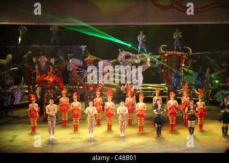 Chinese circus performers, Beijing, China - Stock Photo