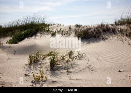 Beautiful sandy beach on Seabrook Island, near Charleston, South Carolina, USA - Stock Photo