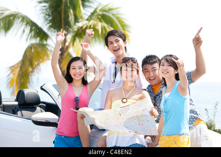 Friends Cheering Together - Stock Photo