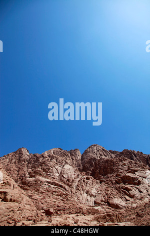 Rocky barren mountain in the Sinai desert beside St. Catherine's Monastery, South Sinai Peninsula, Egypt - Stock Photo