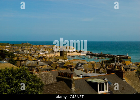 St Ives town and bay, Cornwall, England UK 2011 - Stock Photo