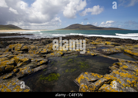 scarista beach isle of harris western isles outer hebrides highlands of scotland - Stock Photo
