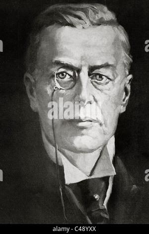Joseph Chamberlain, 1836 – 1914. British businessman, politician, and statesman. - Stock Photo
