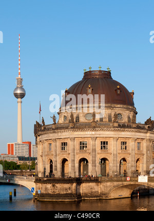 Evening view of Bode Museum on Museum Island or Museumsinsel in Mitte Berlin Germany - Stock Photo