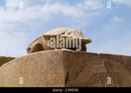 Photograph of the ruins of the Egyptain temple in Luxor - Stock Photo