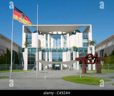 The Chancellery building the building housing the Chancellor in Berlin Germany - Stock Photo