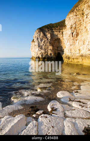 Thornwick Bay at Sunset Flamborough Head East Riding of Yorkshire England - Stock Photo