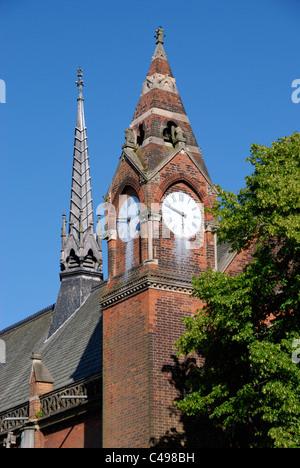Highgate School Chapel clock tower, Highgate, London, England - Stock Photo