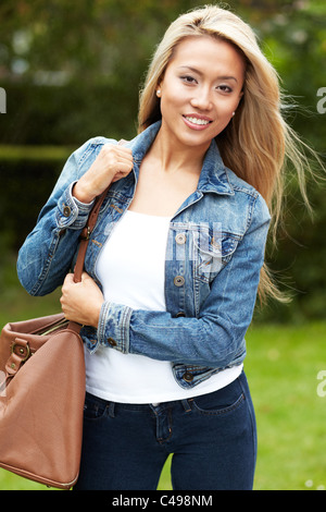 Portrait of pretty ethnic girl - Stock Photo