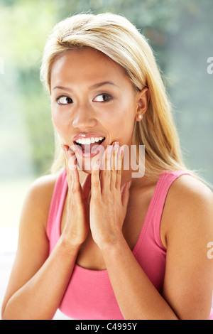 Expressional girl - Stock Photo