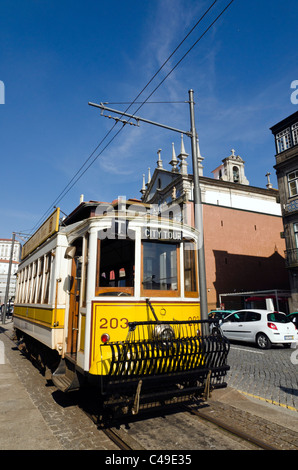 City Tour tram, Porto, Portugal - Stock Photo