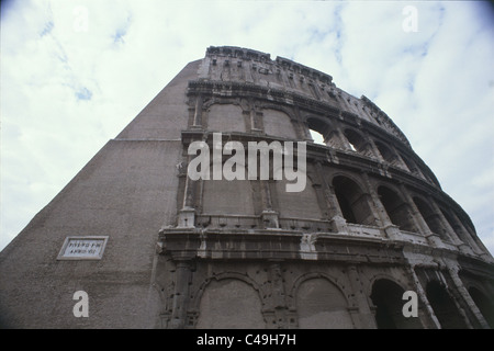 Photograph of the famos Roman Coliseum in Rome - Stock Photo