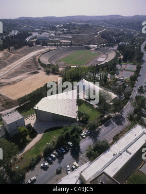 Aerial photograph of the Hebrew University in Jerusalem - Stock Photo