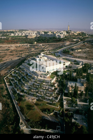 Aerial photograph of the Mormon center on mount Scops in Jerusalem - Stock Photo
