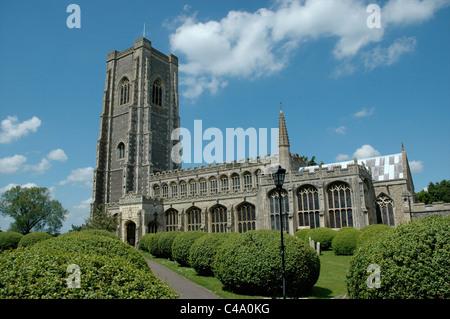 The Parish Church of St Peter and St Paul, Lavenham, Suffolk, England, UK - Stock Photo