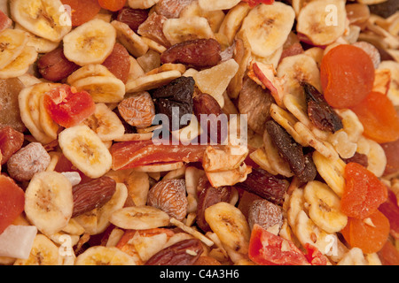 Dried fruit, mixed fruit - Trockenobst, Früchtemischung - Stock Photo