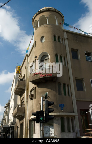 Photograph of the old Bauhaus buildings in Tel Aviv - Stock Photo