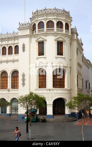 Teatro Colon at Plaza San Martin located within the Historic Centre of Lima, Peru. - Stock Photo