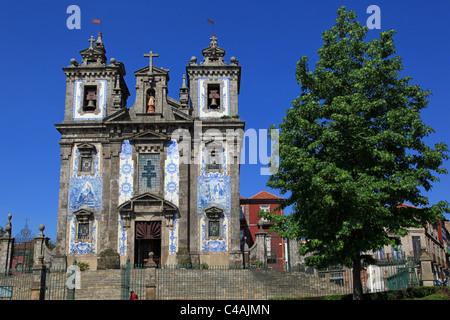 Igreja de Santo Ildefonso church, Porto, Portugal - Stock Photo
