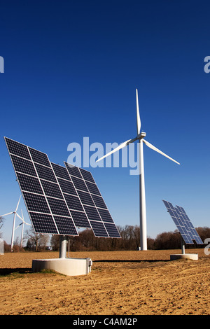 Wind turbines and commercial solar photo voltaic cells in Ontario ...