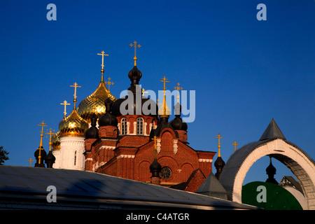 Russia, Golden Ring, Kostroma; The Bogoyavlensko-Anastasin Monastery in the historical centre - Stock Photo