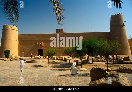 Saudi Arabia, Riyadh. Built in around 1865 and now much restored, Masmak Fort (or Qasr al-Masmak) - Stock Photo