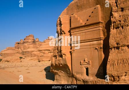 Saudi Arabia, Madinah, nr. Al-Ula, Madain Saleh (aka Hegra). Now a UNESCO World Heritage Site, - Stock Photo
