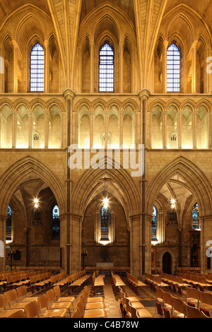 England, London. Southwark Cathedral or The Cathedral and Collegiate Church of St Saviour and St Mary Overie, Southwark, London, lies on the south bank of the River Thames close to London Bridge. It is the mother church of the Anglican Diocese of Southwark.