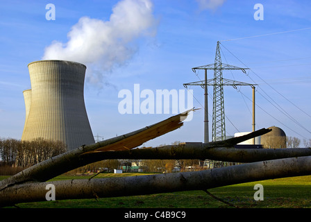 Nuclear Power Plant of Gundremmingen, Bavaria, Germany. - Stock Photo