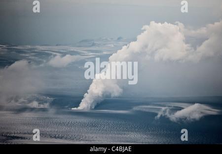 Grimsvotn Volcanic Eruption in the Vatnajokull Glacier, Iceland - Stock Photo