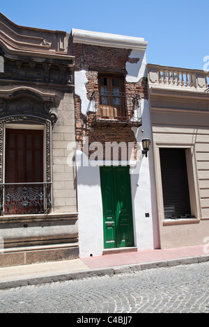 The Casa Mínima, the smallest house in Buenos Aires (San Telmo), Argentina - Stock Photo