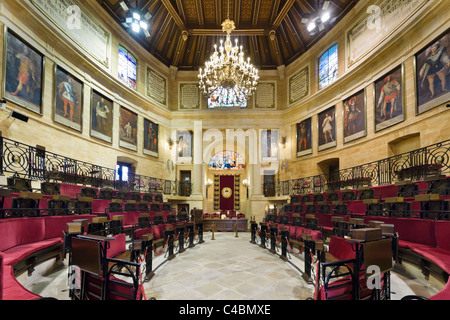 The Assembly Chamber in the Assembly House (Casa de las Juntas), Gernika (Guernica), Bizkaia, Basque Country, Spain - Stock Photo