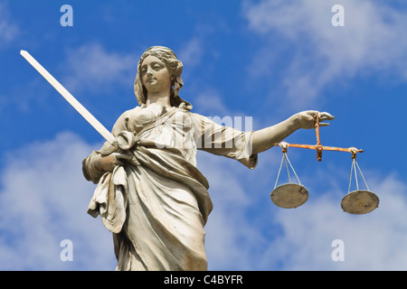 Lady Justice statue in Dublin, Ireland - Stock Photo