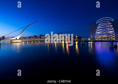 Samuel Beckett bridge, Dublin - Stock Photo