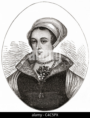 Lady Jane Grey, 1536 – 1554 aka The Nine Days' Queen. - Stock Photo