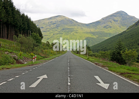 View East on the A83 Near Butterbridge - Stock Photo