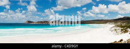 View along beach at Lucky Bay, Cape Le Grand National Park, Esperance, Western Australia, Australia - Stock Photo