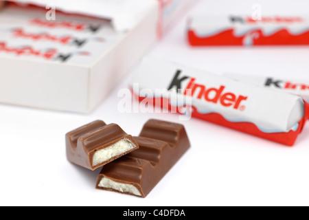 Kinder mini treats chocolate covered cream bars - Stock Photo