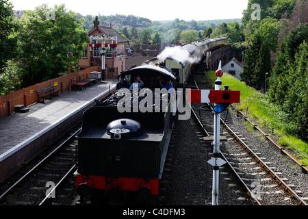 Bewdley station Severn Ralley Railway Bewdley Worcestershire UK - Stock Photo