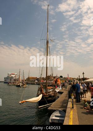 Yarmouth Old Gaffers Festival Isle of Wight England UK - Stock Photo