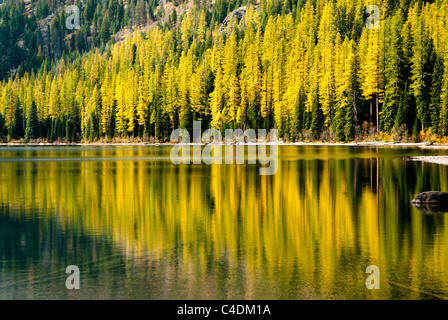 Crystal Lake is located in the Mission Mountains above the Seeley Swan valley in western Montana. - Stock Photo