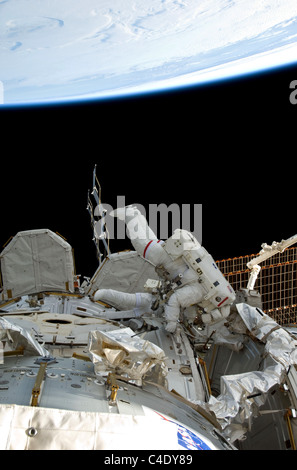 nasa astronaut steve bowen works on the international space station c4dy89 international space station (iss) airlock module being prepared Farmall Tractor Wiring Harness at aneh.co