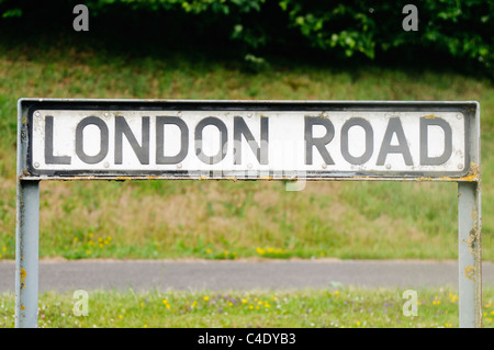 Road sign for 'London Road' - Stock Photo