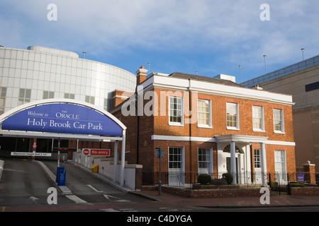 Holy Brook Car Park, The Oracle, Bridge Street, Reading, Berkshire, UK - Stock Photo