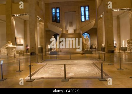 Ground floor of the National Museum, Beirut, Lebanon. - Stock Photo