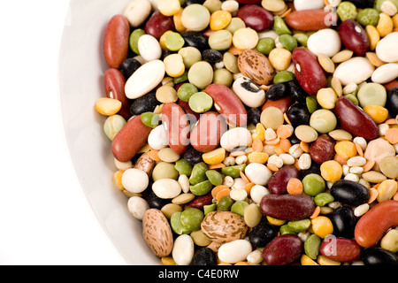 Mixed beans for background - Stock Photo