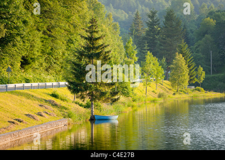 Country road near Mrzla vodica, Gorski Kotar in Croatia - Stock Photo