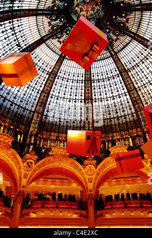 Interior Dome And Galleries Galleries Lafayette Department Store Stock Photo Royalty Free
