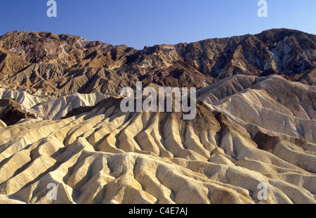Death Valley National Park, California in the USA Zabriskie Point - Stock Photo