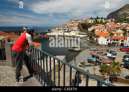The fishing village of Camara de Lobos, Madeira. The view from where Winston Churchill used to paint in 1950. - Stock Photo